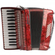 L1306RD ACORDEON 32B 30K C/FUNDA  COLOR ROJO SCIMONE